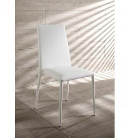 sedia-cleo-ecopelle-bianca