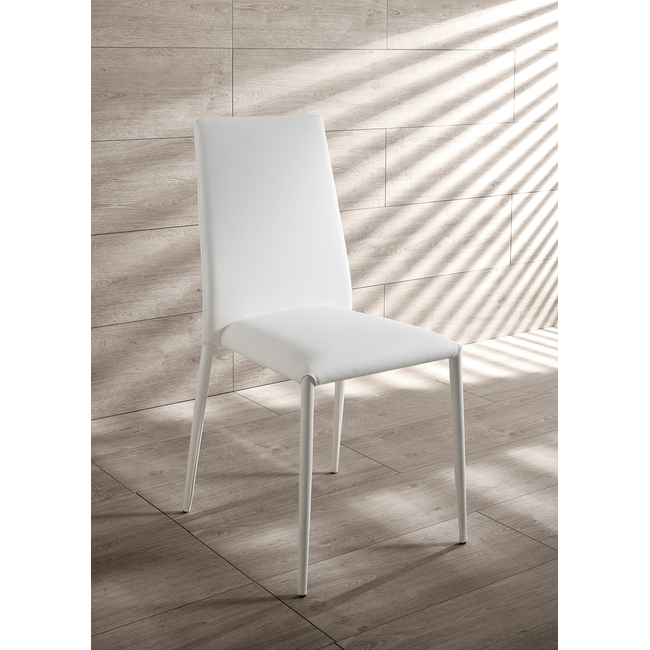 Sedie In Ecopelle Bianche.Sedia Cleo Ecopelle Bianca Outlet Arredo Design