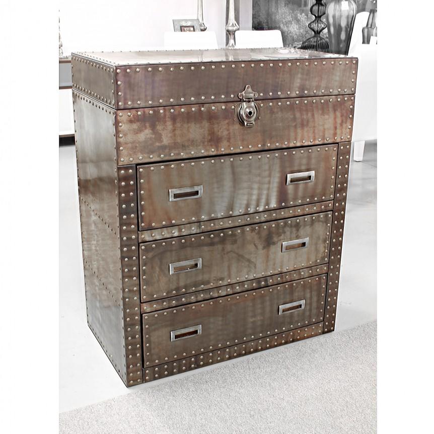 Cassettiera bronzo kare design struttura in legno for Madie design outlet