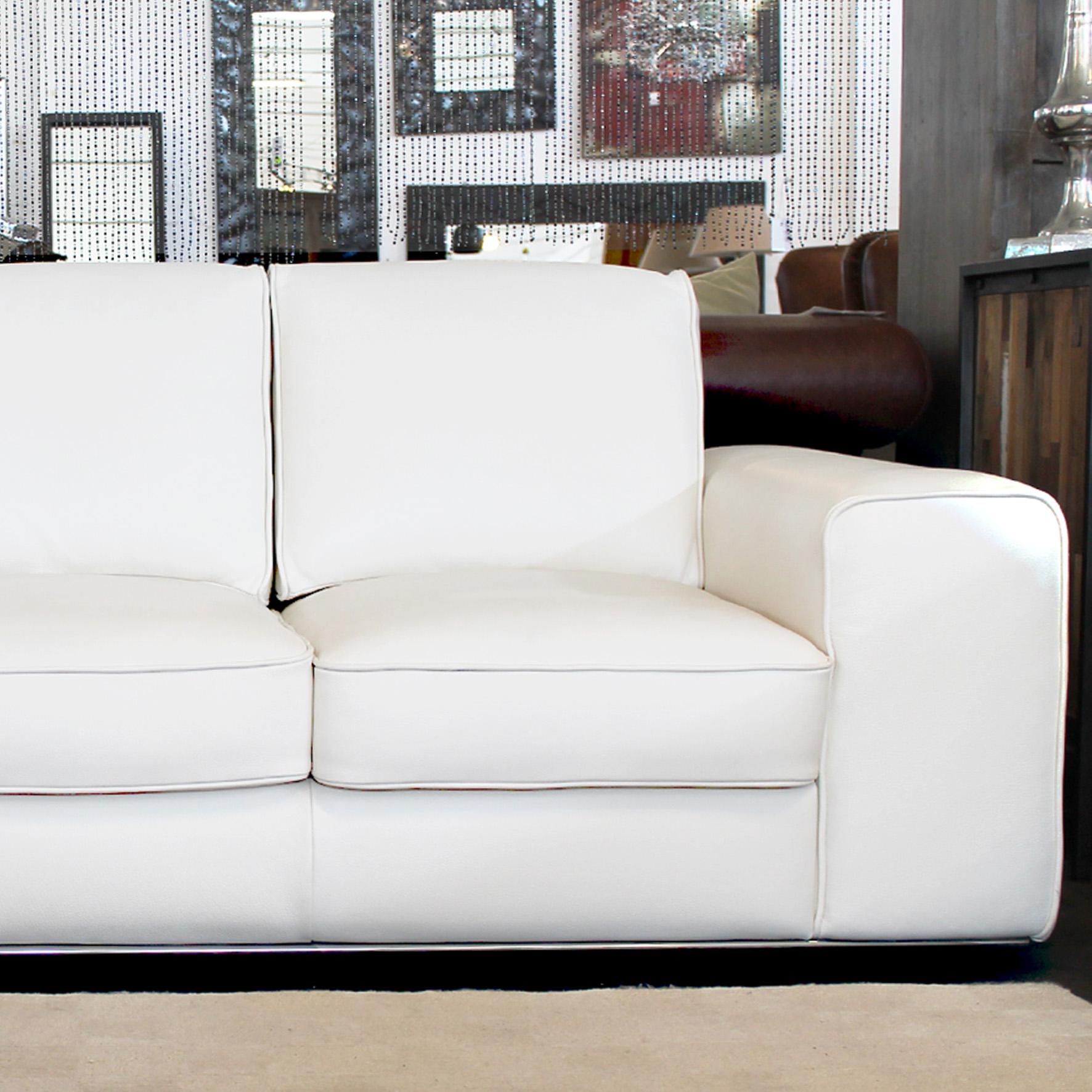 Mobili e arredamento divano bianco in pelle - Pulire pelle divano ...