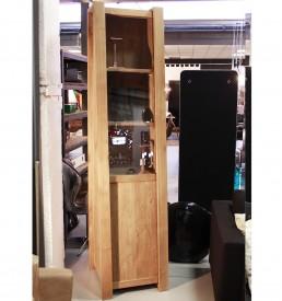 Mobile vetrina legno massello anta scorrevole legno vetro cinque ripiani Outlet Arredo Design