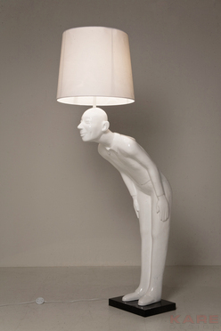 LAMPADA TERRA MODERNA MARMO BIANCA - Outlet Arredo Design