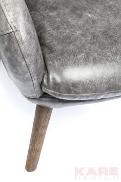 Poltrona retro 39 futuristica pelle grigia for Kare outlet