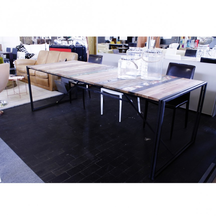 Tavoli sedie sgabelli shop outlet arredamento design - Tavolo legno riciclato ...