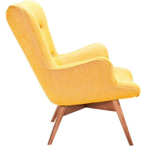 Poltrona vintage tessuto gialla outlet arredo design for Outlet arredo design