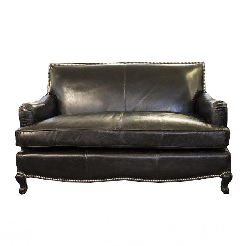 Divano nero di pelle design casa creativa e mobili for Outlet arredo design online