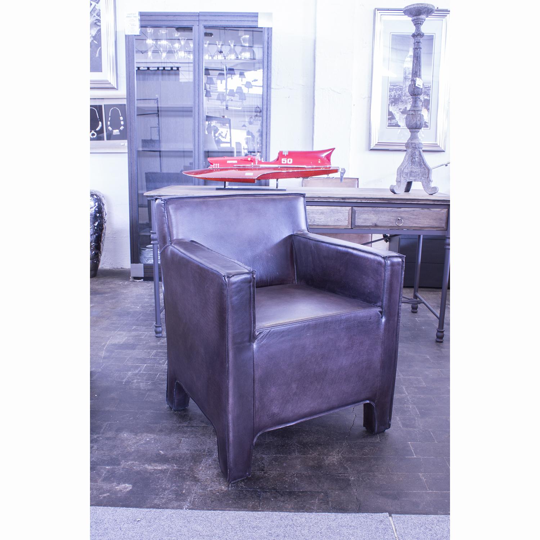 Poltrona moderna pelle bufalo carbone - Poltrona moderna design ...
