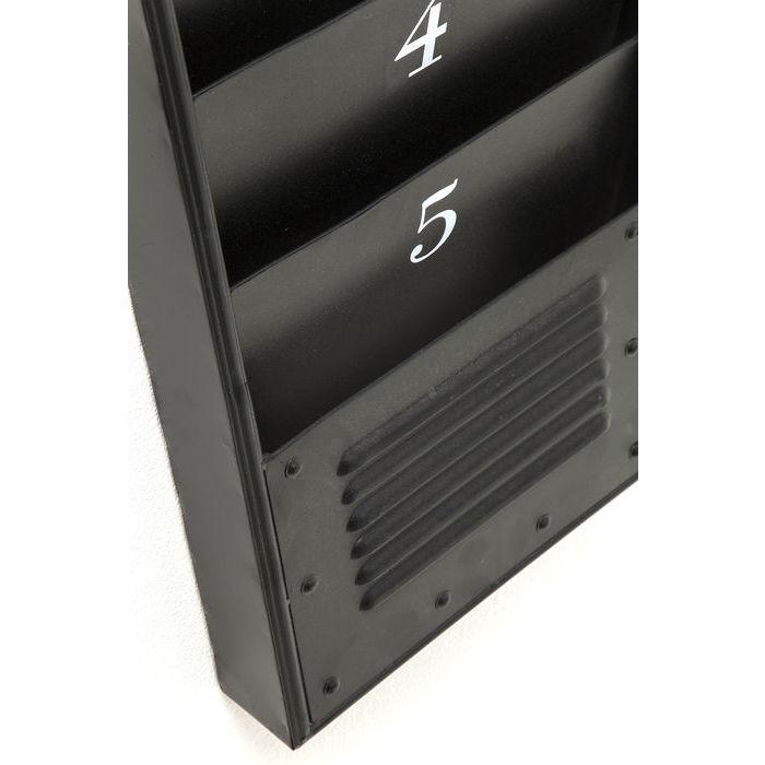 Orologio Porta Riviste Acciaio Nero Outlet Arredo Design