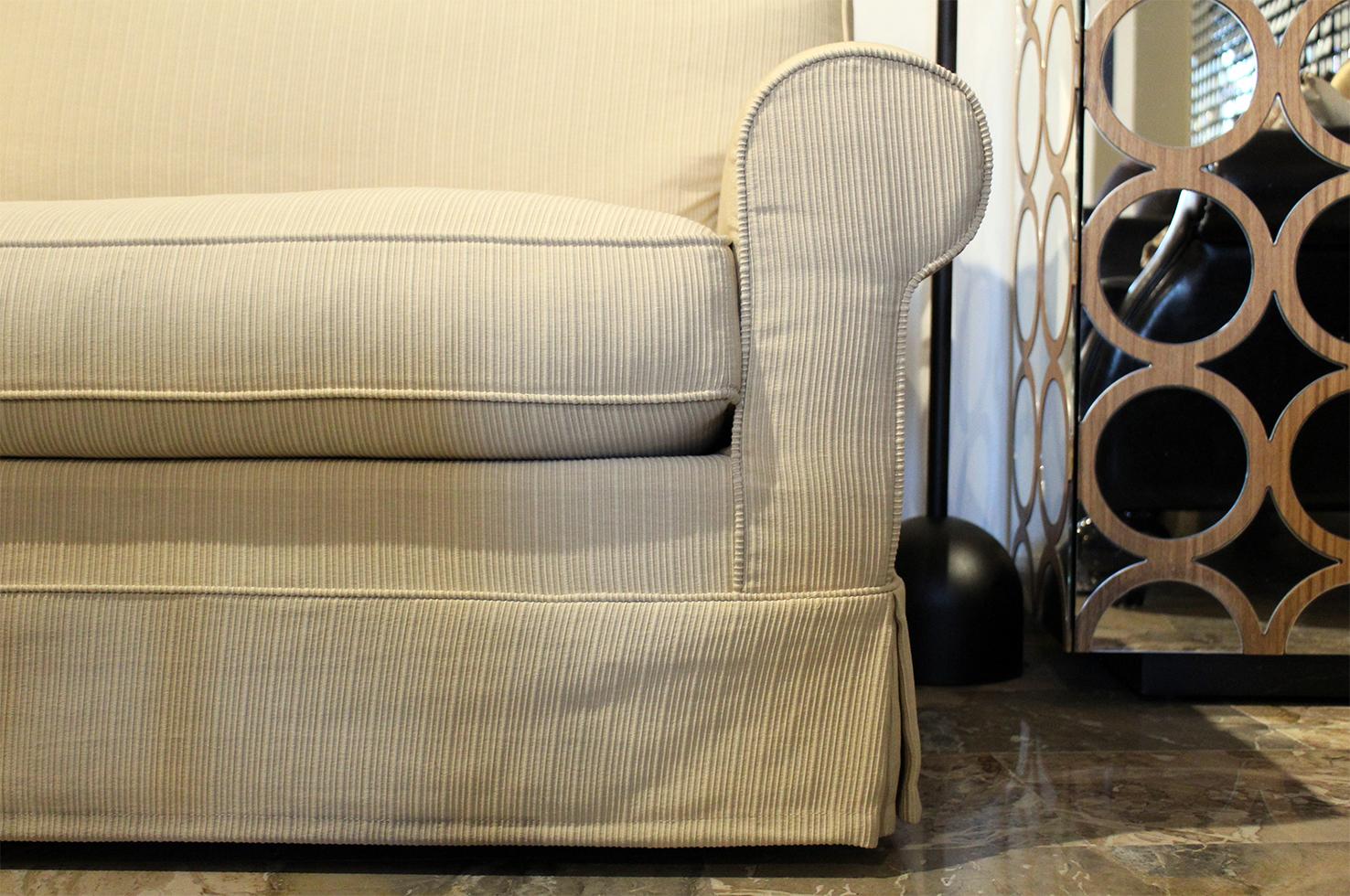 Arredamento Color Corda : Divano lineare classico tessuto corda outlet arredo design