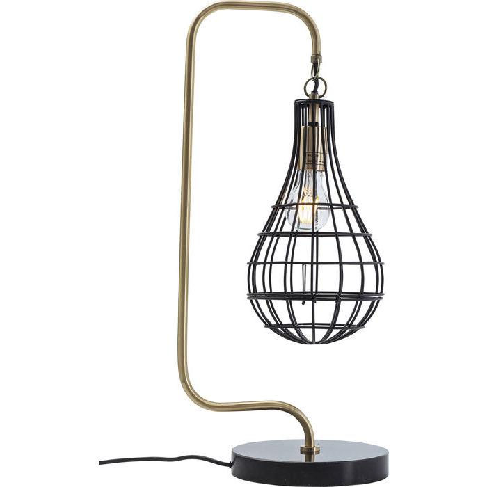 Lampada goccia dorata vintage tavolo outlet arredo design for Outlet arredo design brescia bs