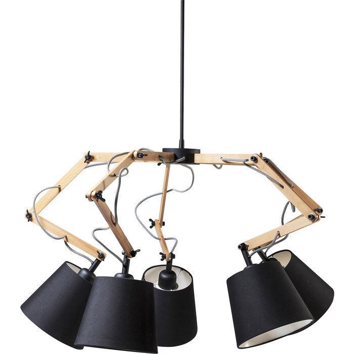 Lampadario moderno spider legno outlet arredo design for Lampadario legno moderno