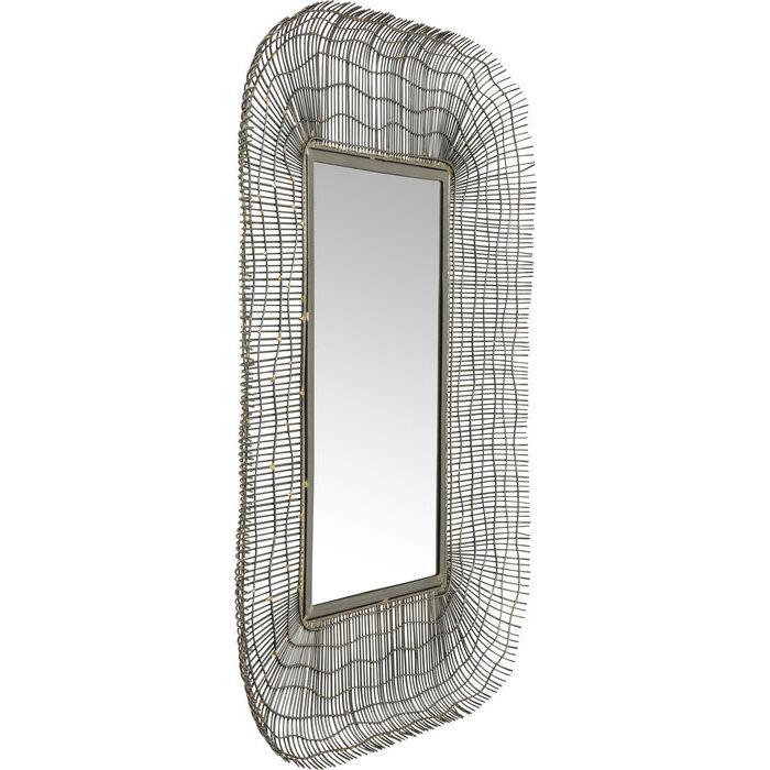 Specchio Contemporaneo Acciaio Outlet Arredo Design