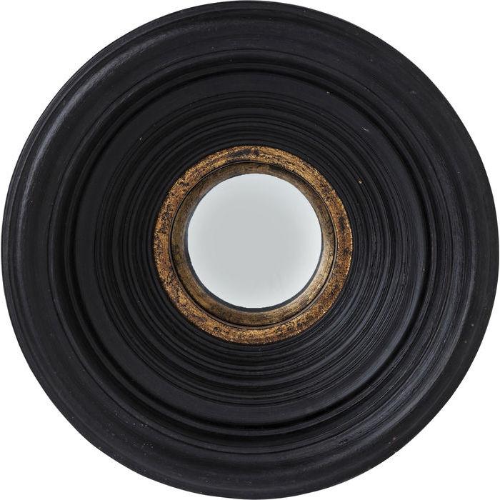 specchio moderno convesso nero diametro 30cm