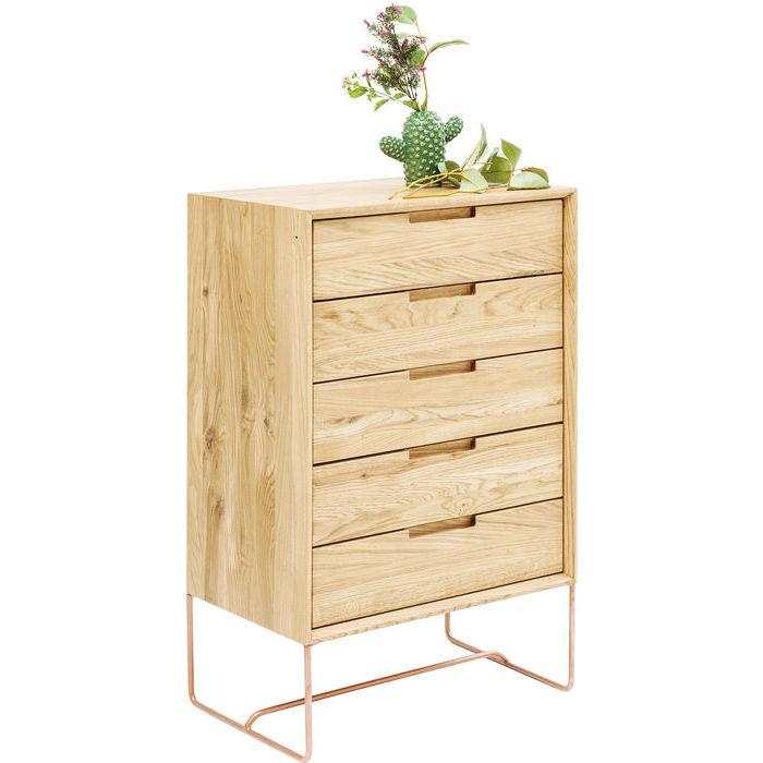 Cassettiera moderna legno quercia outlet arredo design for Outlet arredo design brescia bs