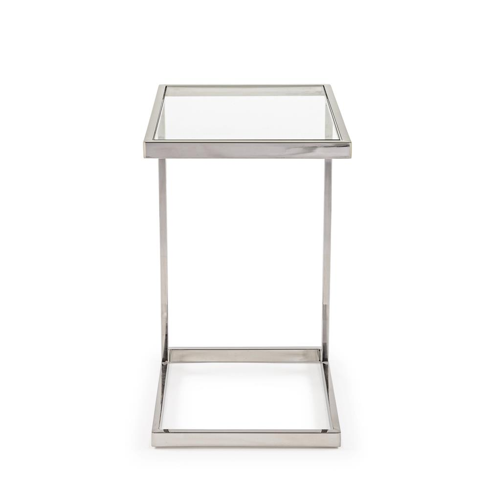 Tavolino moderno vetro acciaio outlet arredo design for Outlet arredo design