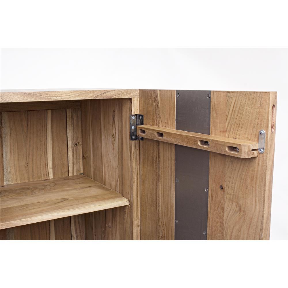 Madia legno acacia e metallo outlet arredo design for Outlet arredo design