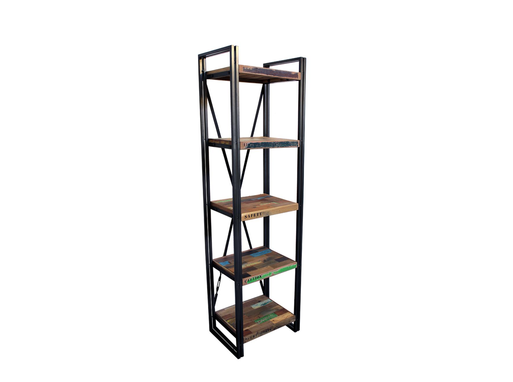 Indy libreria a giorno ripiani in legno e ferro