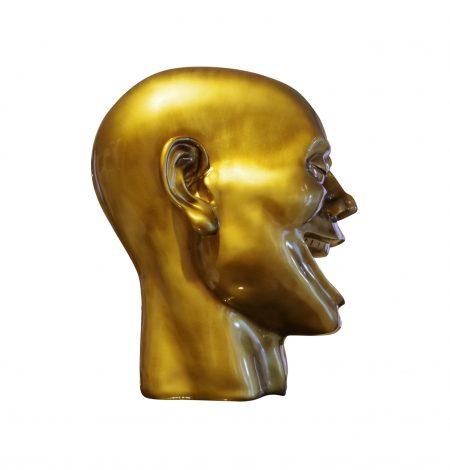 figura decorativa testa happy